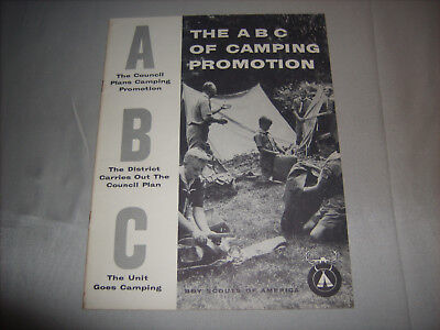 Vintage BSA Boy Scouts of America THE A B C OF CAMPING PROMOTION Book 1963 Print