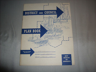 Vintage BSA Boy Scouts of America DISTRICT AND COUNCIL PLAN BOOK 1963 Printing