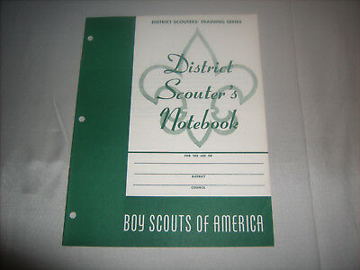 Vtg BSA Boy Scouts of America District Scouters' Training Series Notebook 1958