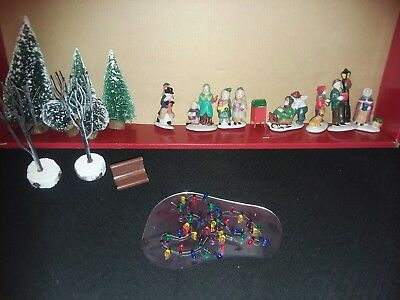 misc christmas village accessories trees pond lights lemax and more