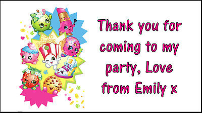 Party bag stickers personalised x24 80s rainbow pop thank you sweet cone labels