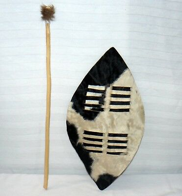 African Hand Made Cow Hide Shield