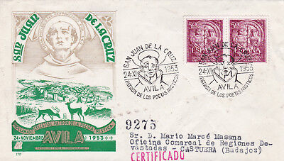 Spain 1953 San Juan De La Cruz FDC No.9275 Used Average Condition