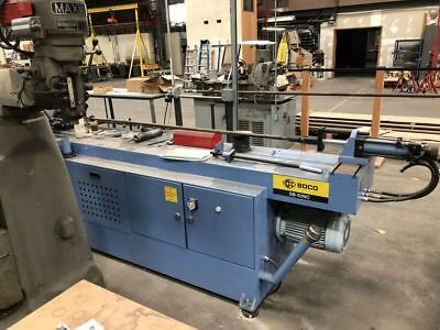 Soco 50Nc Nc Control Tube Bender With Hydraulic Rotary Bending