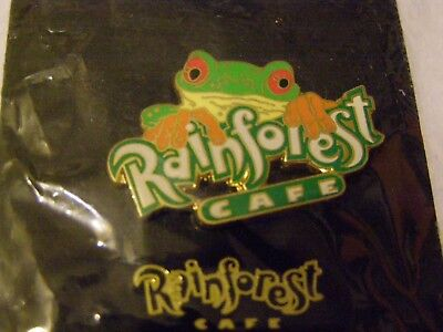 Rainforest Cafe Green Tree Frog Collectible Cast Metal & Enamel Lapel Pin LOOK !
