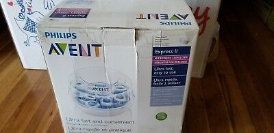 NEW Philips AVENT Express II Microwave Steam STERILIZER Baby Bottle OPEN BOX