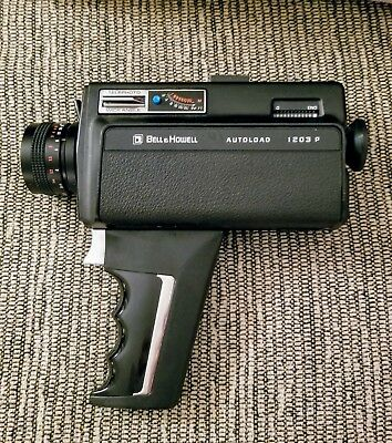 Bell & Howell Autoload 1203P Super 8 Zoom with Authentic Leather Case