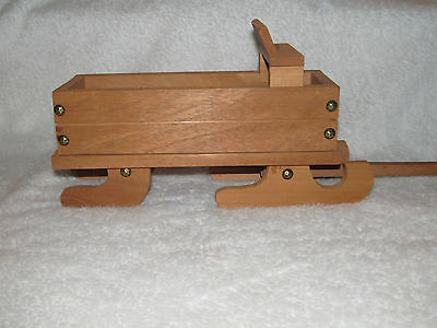 Vintage Homemade Wooden Toy Sleigh with Bench