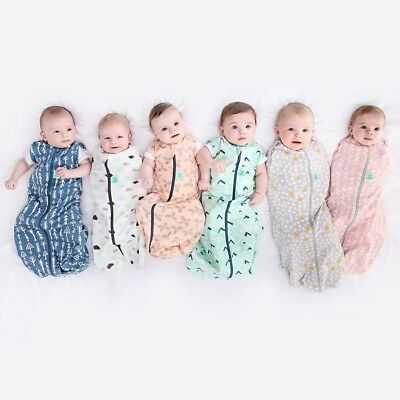ergoPouch Cocoon 1 TOG  Baby Swaddle Wrap  zip up New Prints 2018 FREE SHIPPING