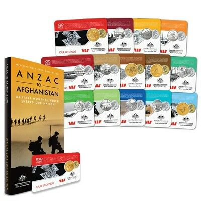 2016 Anzac to Afghanistan  Coin Series - Set of 14 - Includes 25c Coins RRP $85