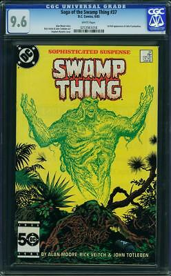 SWAMP THING #37 CGC 9.6 1st full appearance of John Constantine! White pages!