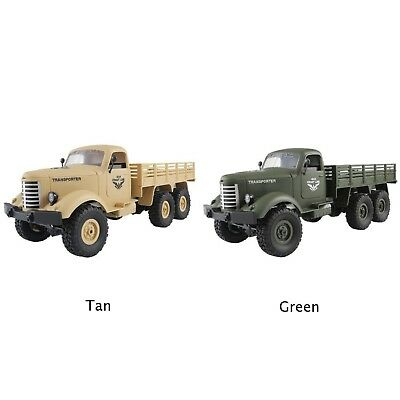 1× 1/16 2.4G 6WD RC Remote Control Rock Crawler Off-Road Military Truck Car Toy