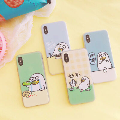 Cartoon Cute Duck Phone Case TPU Silicone Back Cover For iPhone X 6/6s 7 8 Plus