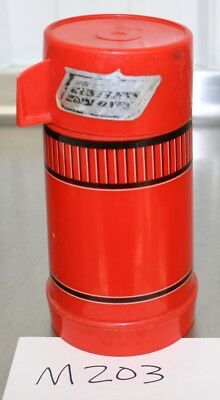 Vintage W.T. Grant's Grant Maid Thermos Bottle Red Black #113 M203