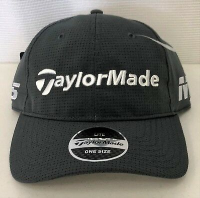 44293730b TAYLORMADE LITETECH TOUR Adjustable Golf Hat - Charcoal - Adjustable