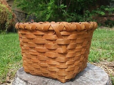 """Antique Shaker Basket w/ Branded Initial """"RC"""""""