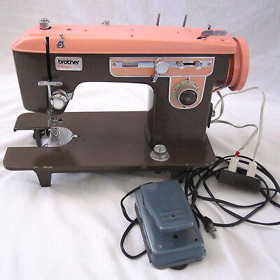 VINTAGE BROWN Pink Brother Charger 40 Sewing Machine Heavy Duty Mesmerizing Brother Charger 651 Sewing Machine Manual
