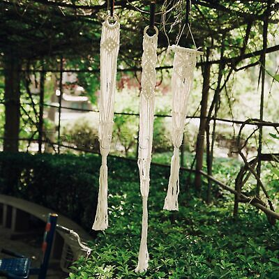 Garden Plant Hanger 4 Leg Macrame Decor Flowerpot Holder Gardenpot Lifting Rope