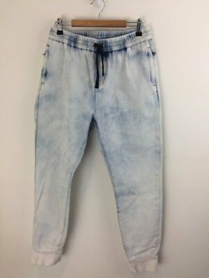 SEED HERITAGE Blotchy Stretch Baggy Cuffed Jeans sz 14 girl [dc
