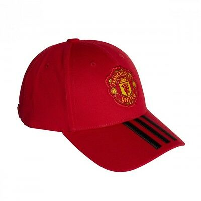 7d0223d456cf CASQUETTE ADIDAS MANCHESTER United FC 3S 2018-2019 Real red-Black ...