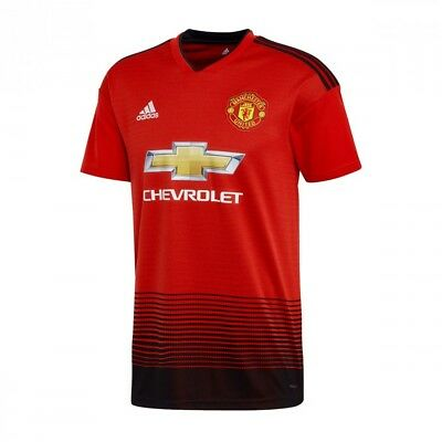 Maillot adidas Manchester United FC Domicile 2018-2019 Real red-Black