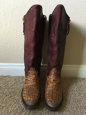 Golden Goose Western Cowboy Boot Embroidery 36 NEW