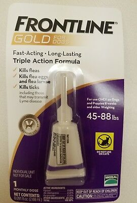 FRONTLINE GOLD for Large Dogs 45-88Lbs 1 month supply EPA Approved FREE SHIPPING