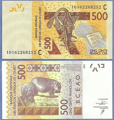 GEM UNC West African States 500 Francs 2016  BURKINA FASO   NEW DATE, SIGNATURE