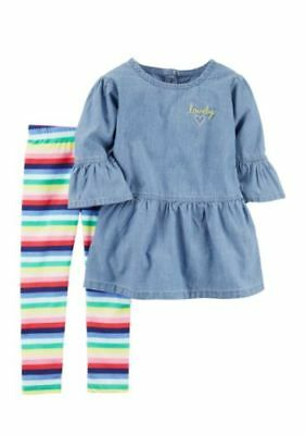 Carters Girls Infant Top & Legging Set Size 12m, 18m & 24m NWT Very Cute!