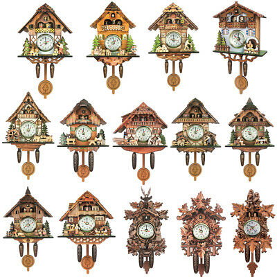 Antique Cuckoo Wall Clock Vintage Wooden Clock Home Decor Excellent Gifts