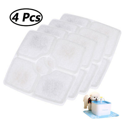 Replacement Activated Carbon Filter 4x for Pet Dog Cat Water Fountain Drink Bowl