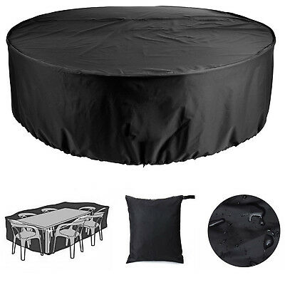Heavy Duty Outside Garden Patio Furniture Round Seater Table Waterproof Cover UK