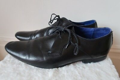 e8bf799a7 Black Shoes Size 9 TED BAKER Martt Leather Oxford Derby Lace Up Formal