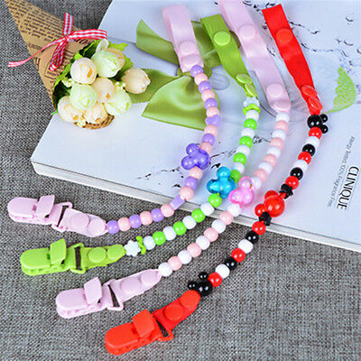 Baby Pacifier Clip Chain Dummy Pacifiers Leash Strap Beads Teether Toy SE