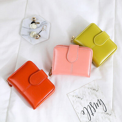 Fashion Women Small Wallet Female Faux Leather Mini Purse Coin Pocket BS