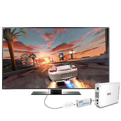 Wii auf HDMI Adapter Konverter 3.5MM 720p 1080p OUTPUT Full HD TV Audio Stick