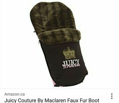 NEW! Maclaren Juicy Couture Brown Limited Edition Footmuff