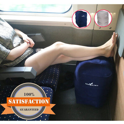 Inflatable Leg Foot Rest Portable Plane Train Travel Footrest Pillow Kid Bed