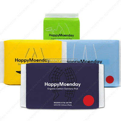 Happy Moonday Sanitary Pad 100% Certified Organic Cotton Cover M / L / Liner /XL