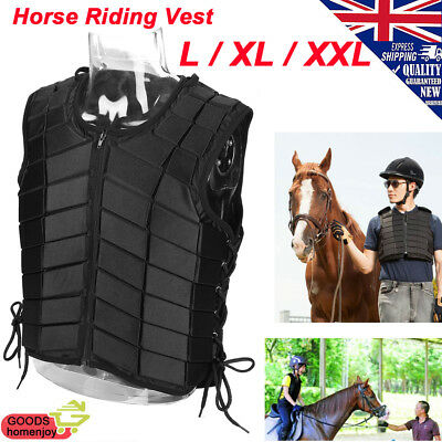 Black EVA Padded Safety Equestrian Horse Riding Vest Body Protector Equipment UK