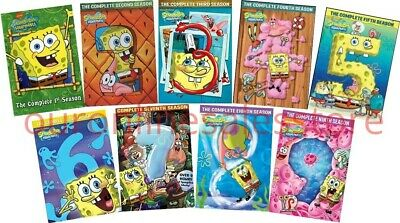 SPONGEBOB SQUAREPANTS Complete All SEASON 1-9 DVD Set Nickelodeon Collection Kid