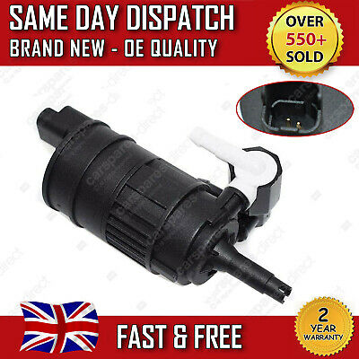 RENAULT CLIO Mk2 1998>2012 WINDSCREEN WASHER PUMP TWIN OUTLET 7700430702