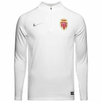 Nike AS Monaco Training Squad Drill Top 2018/19  - White - Mens