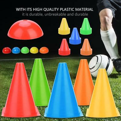 10Pcs 18cm Training Cones Tall Sports Traffic Cones Safety Soccer Football Rugby
