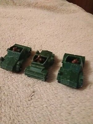 Old Diecast Corgi Juniors Daimler Scout Car Army Made In Gt. Britain Set Of 3