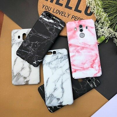 Cute Stylish Granite Marble Stone Effect Full Hard Case For Huawei Mate10Pro P10