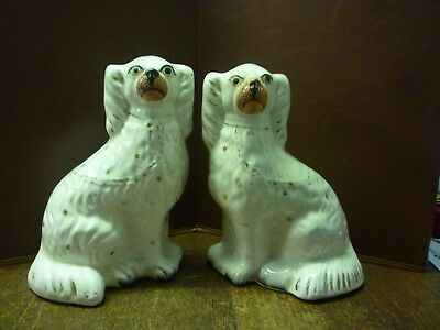 Pair Of Nice Victorian Staffordshire Chimney Dogs