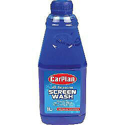 Carplan All Seasons Screen Wash 1 Litres Removes Dirt Cleans Windscreen