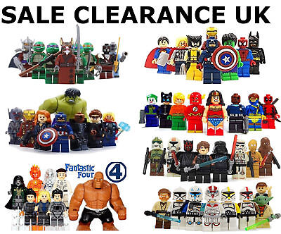 Lego SuperHeroes Minifigures + Custom Super heroes Mini Figures Various MiniFigs