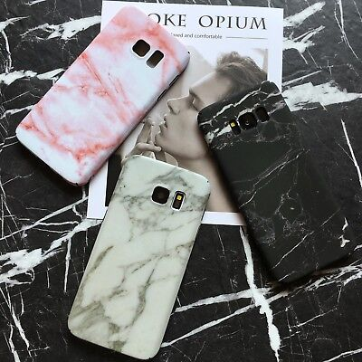 Cute Stylish Granite Marble Stone Effect Full Hard Case For Samsung Note8 S8S9+